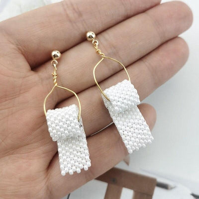 Pearl Toilet Paper Earrings