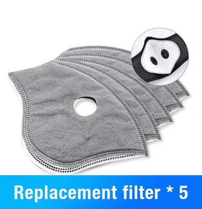 WASHABLE FABRIC VELCRO MASK AND 5 LAYER FILTER UP TO 60% OFF