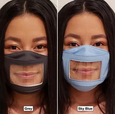 ANTI-FOG Clear Mask ***Our Mask Will Not Fog Up When You Speak*** Adjustable Straps - Read Lips & Expressions