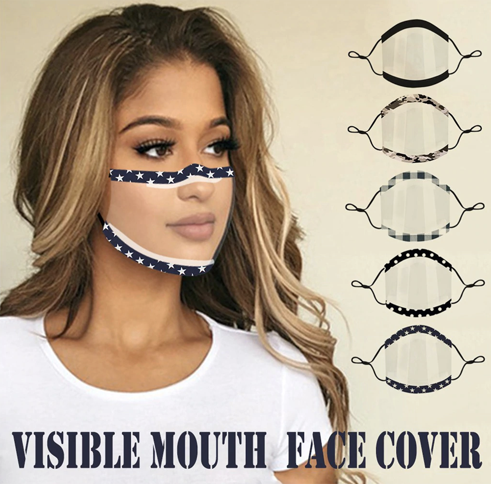 Fashion Visible Mouth Face Cover