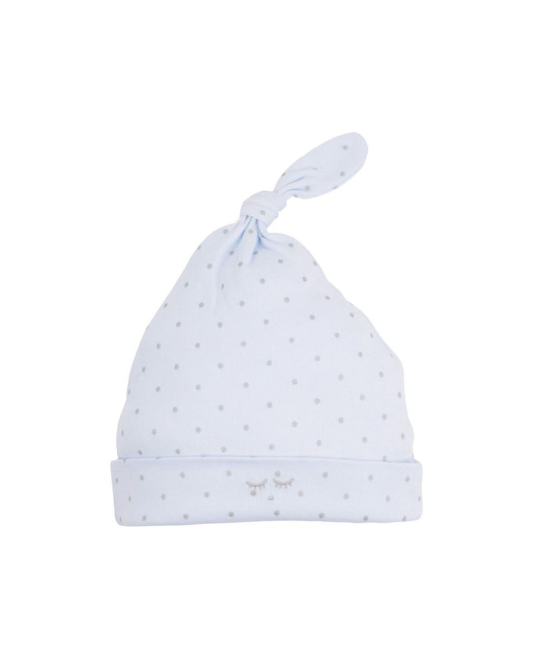 Livly Saturday Tossie Hat Light Blue Siver Dot