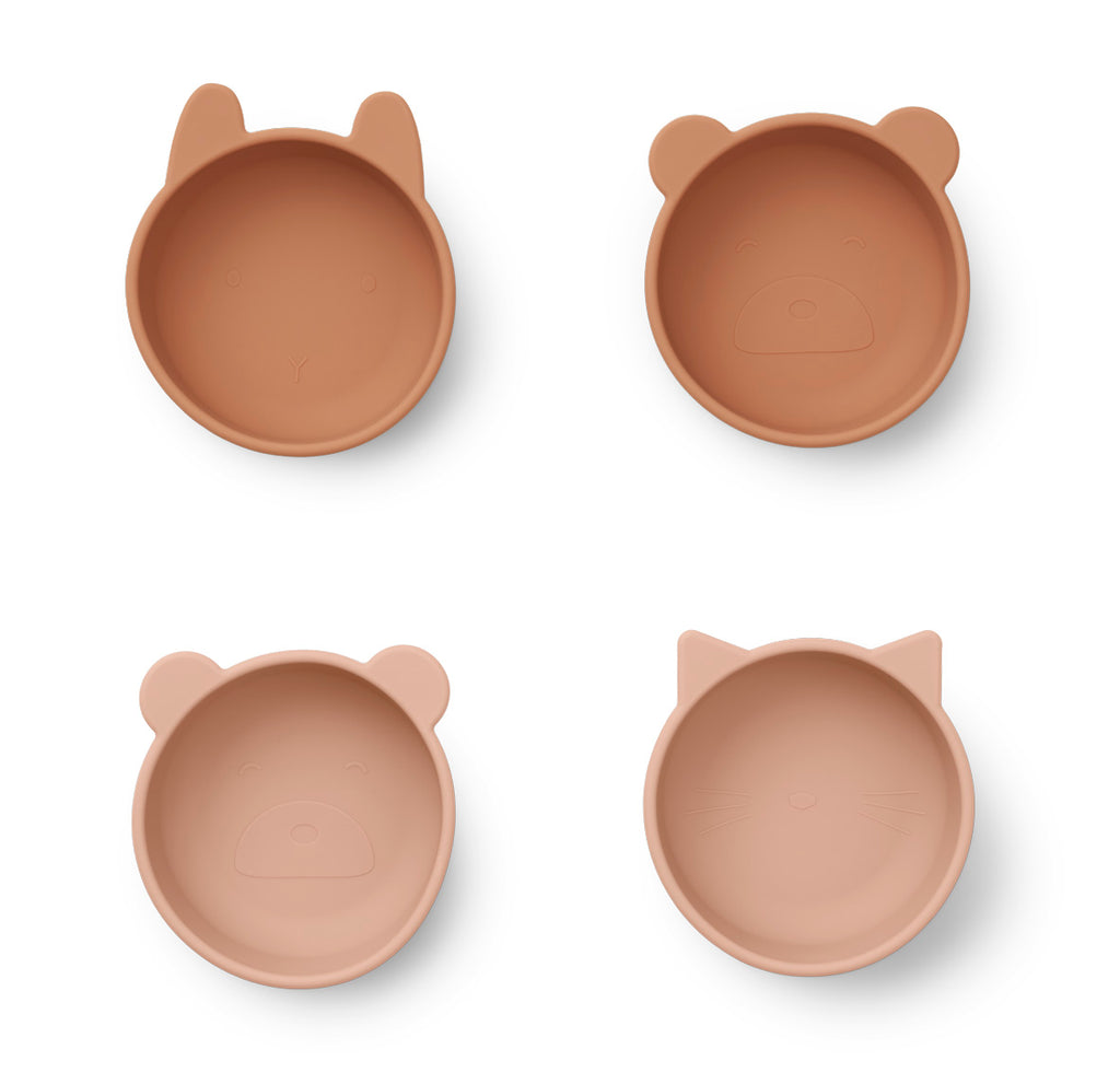 Liewood Iggy Silicone Bowls 4-pack Tuscany Rose