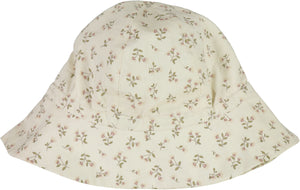 Wheat Baby Girl Sun Hat Eggshell Flowers