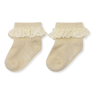 Konges Sløjd LACE SOCKS LUREX Creme