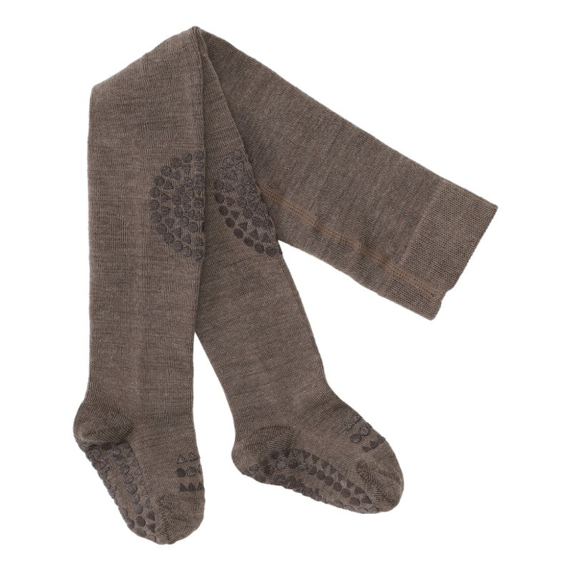 GoBabyGo Crawling Wool Tights Melange Brown