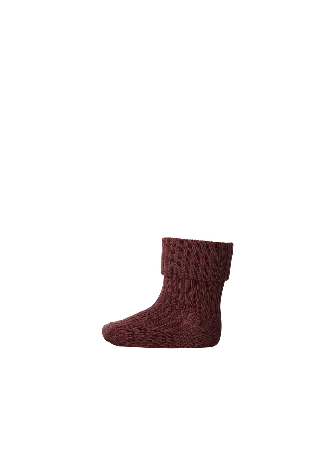 MP Wool Socks Rib Wine Red