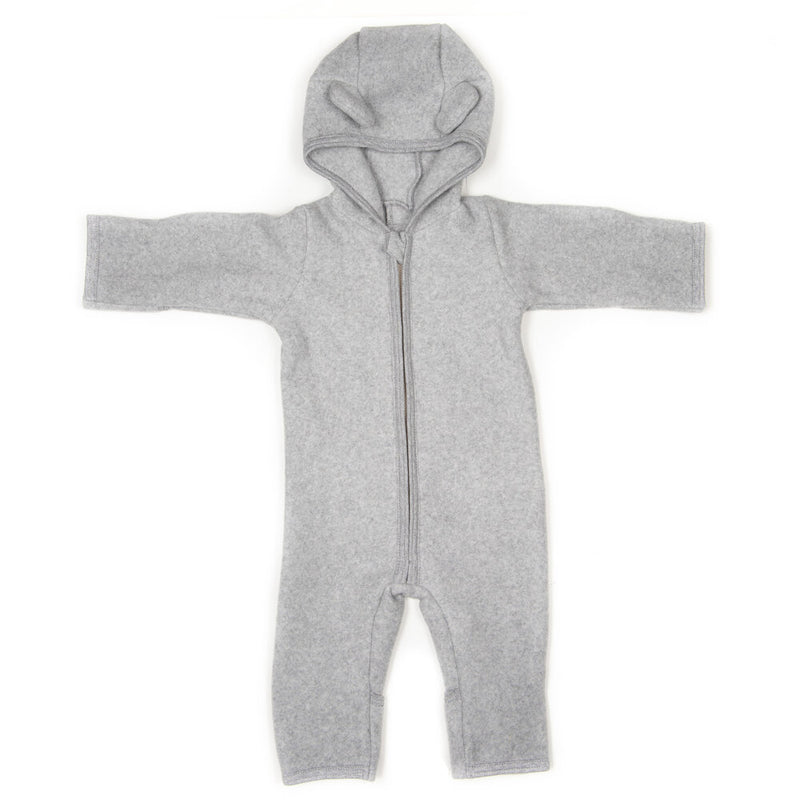 Huttelihut Allie babysuit w/ears L.Grey