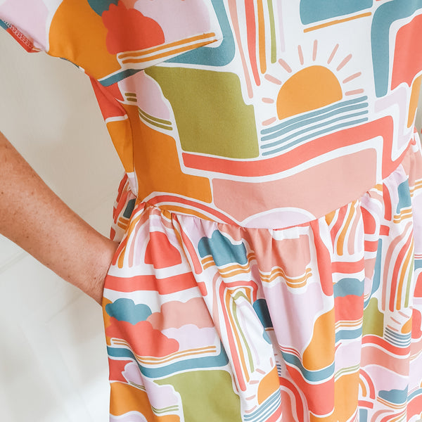 Retro Rainbows Ruby Dress