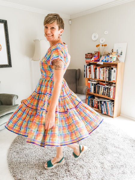 Party Gingham Patsy Dress