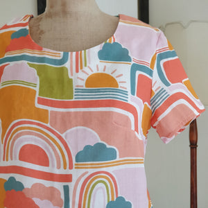 Retro Rainbows Cropped Daisy Top