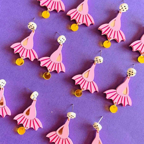 Ballerina Gumnut Earrings