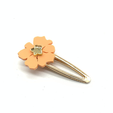 Peachy Poppy hairclip
