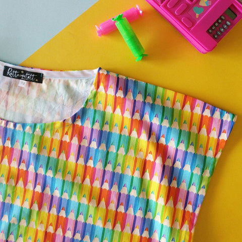Rainbow pencil Vivienne top