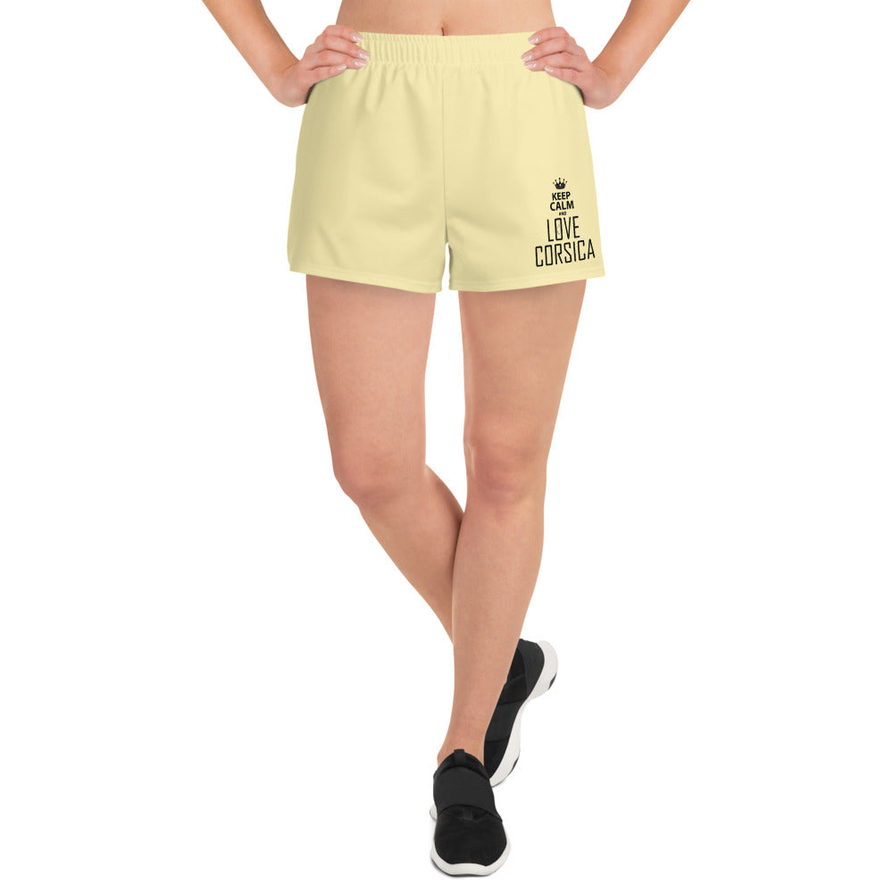 Short de sport pour femmes, Keep Calm and Love Corsica