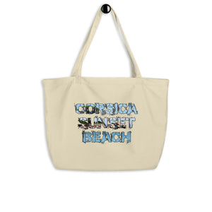Grand tote bag bio, Corsica Sunset Beach
