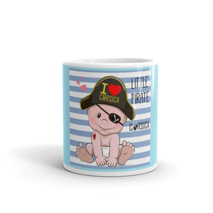 Mug Blanc Brillant, Little Pirate of Corsica