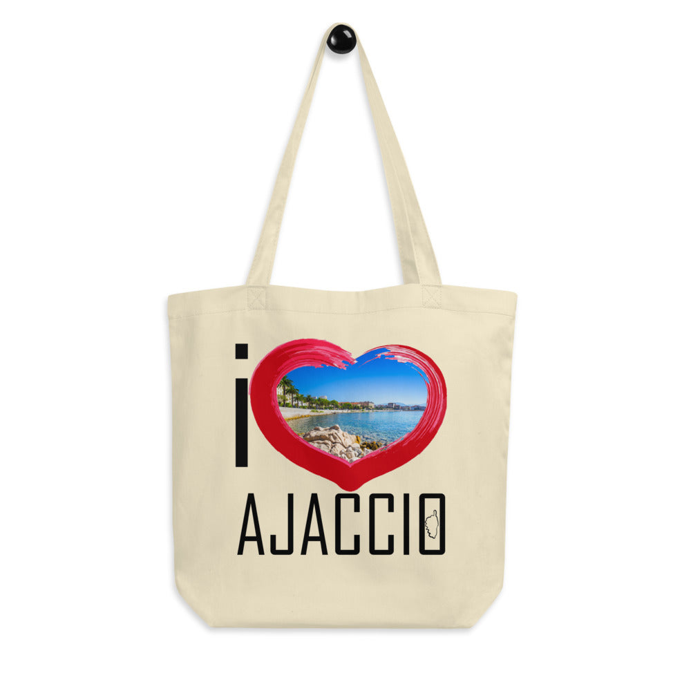 Tote Bag Bio, I Love Ajaccio