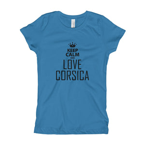 T-shirt pour Fille, Keep Calm and Love Corsica