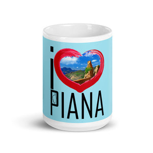 Mug Blanc Brillant, I Love Piana