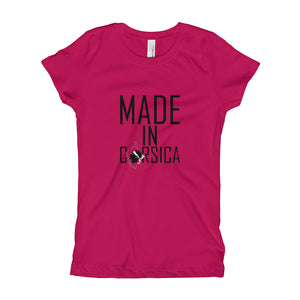 T-shirt pour Fille, Made In Corsica