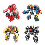 Qman 3305 Transform Blast Ranger 4er Set Transformer