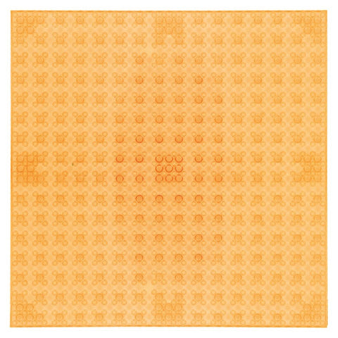 Strictly Briks Basisplatte single transparent orange