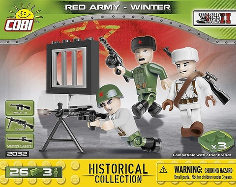 Cobi 2032 red army - winter 3 Figures