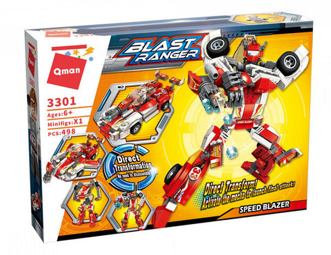 Qman 3301 Transform Blast Ranger Speed Blazer