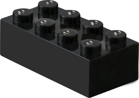 STAX connector 2x4 schwarz brick 25x
