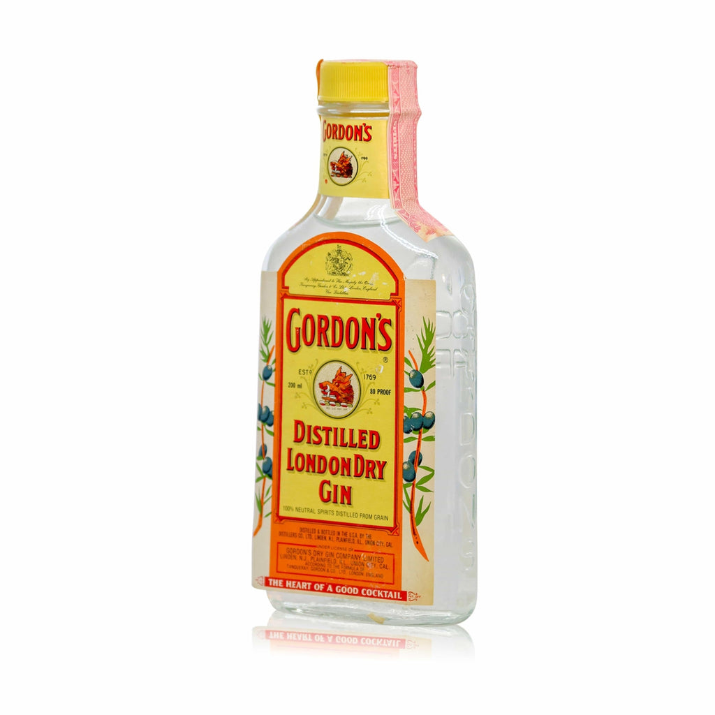 buy Gordons London Dry Gin early 1980s 200ml online at Flask Fine Wine