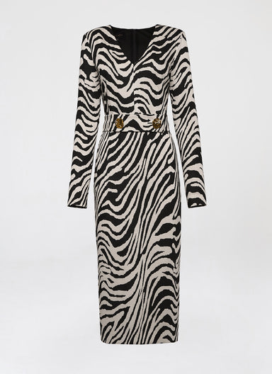 Zebra Jersey Jacquard dress - ESCADA
