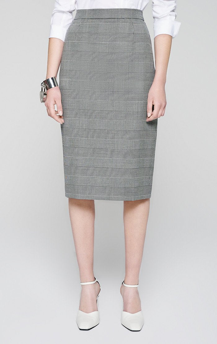 ESCADA Virgin Wool Check Skirt