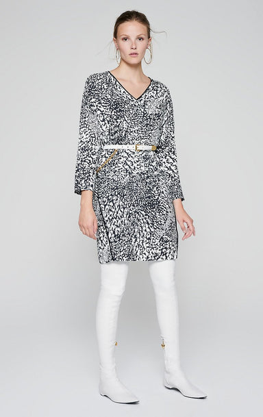 Crepe Leopard Print Dress - ESCADA