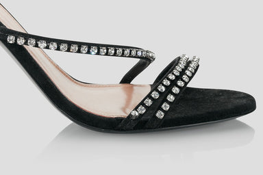 ESCADA Suede Embellished Sandals