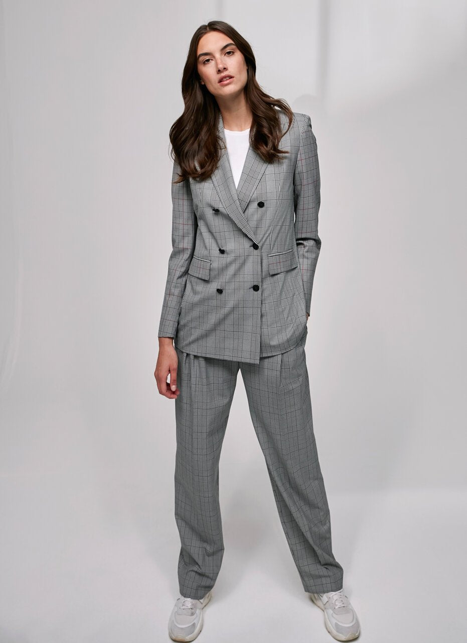 ESCADA Fashionable Viscose Stretch Check Blazer