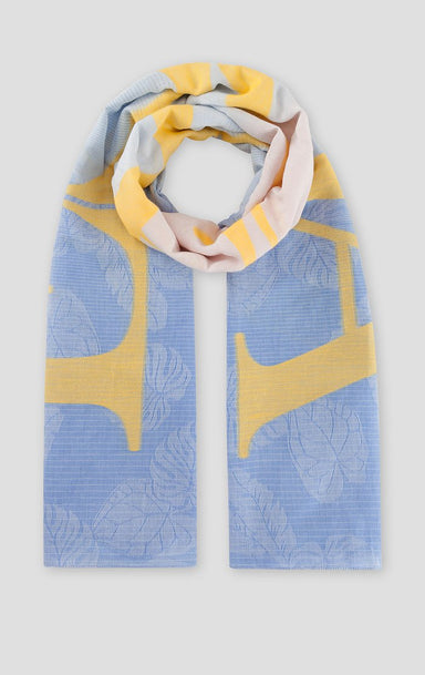 ESCADA Cotton Jacquard Logo Scarf