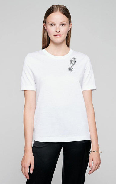 Crystal-Embellished T-shirt - ESCADA