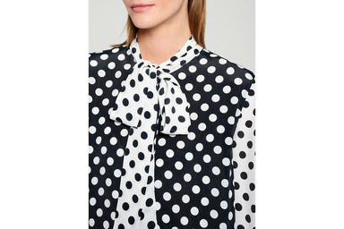 Silk Blend Polka Dot Midi Dress - ESCADA