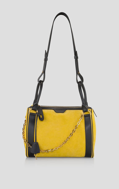 Suede and Leather Shoulder Bag - ESCADA