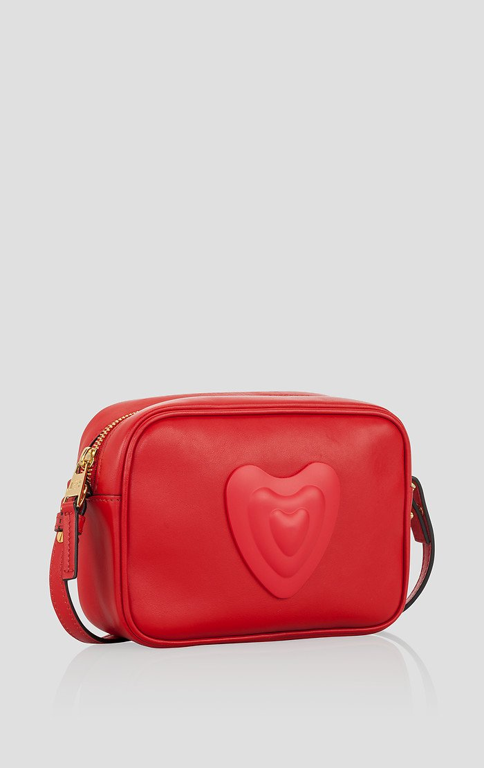 ESCADA Leather Crossbody Heart Bag
