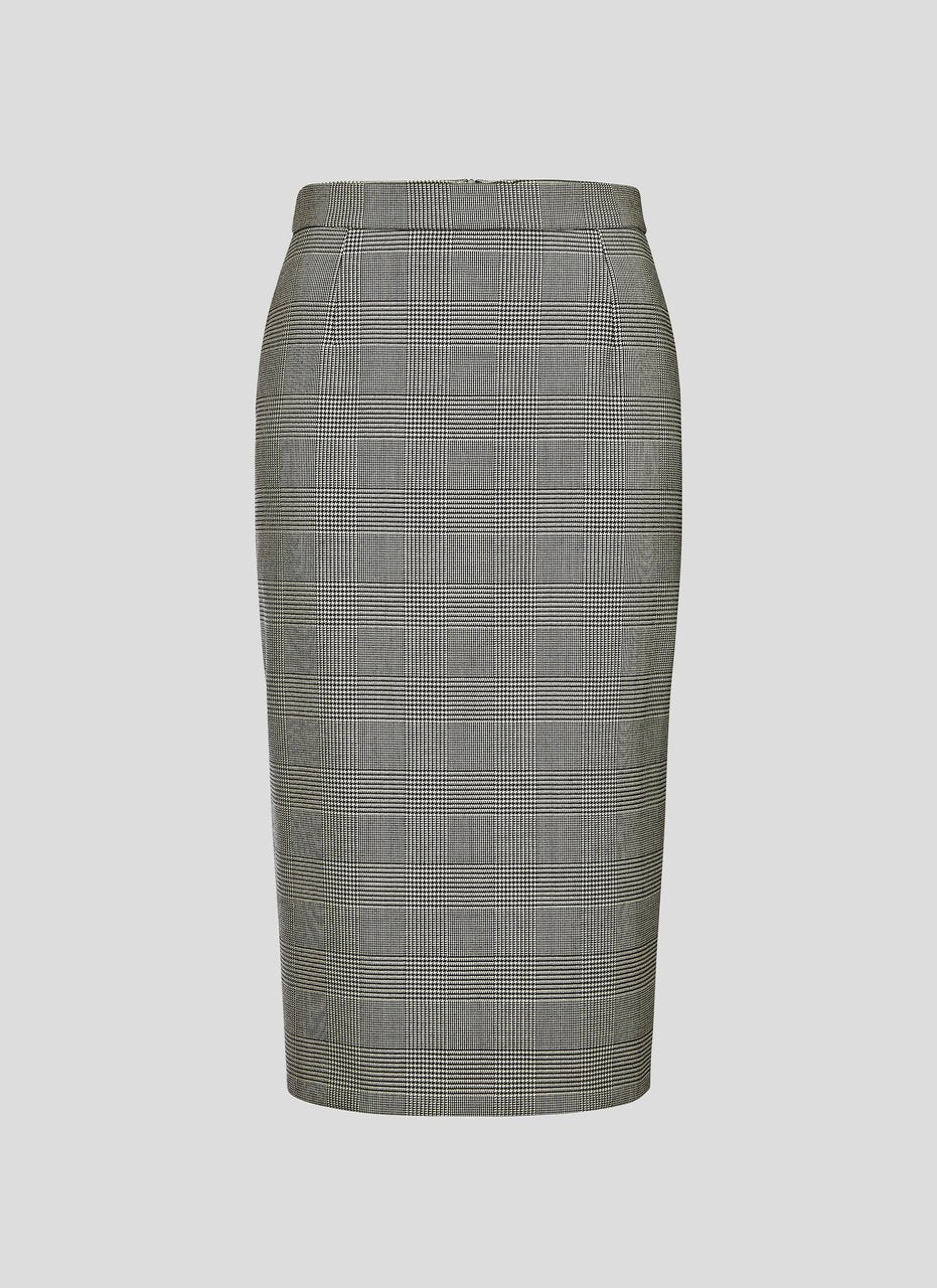 Virgin Wool Check Skirt - ESCADA