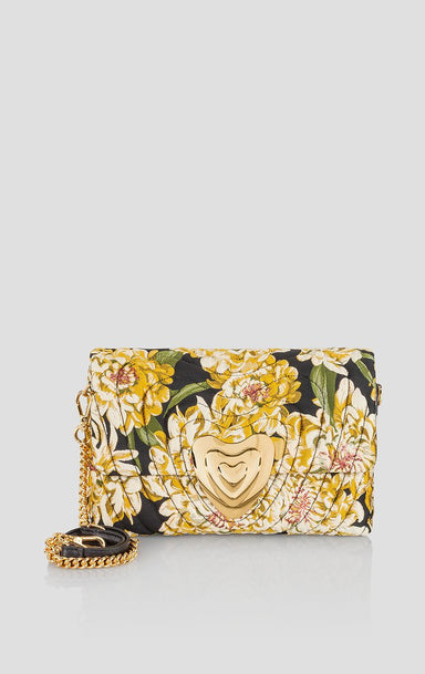 ESCADA Floral Jacquard Heart Bag