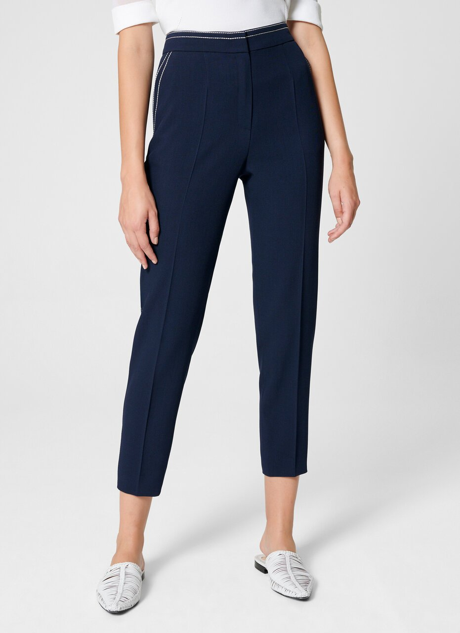Wool Blend Cropped Pants - ESCADA