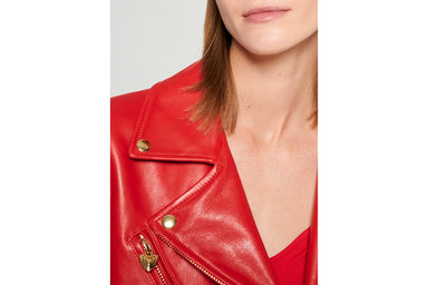 Leather Biker Jacket - ESCADA