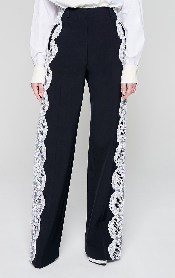 ESCADA Residency Collection - Wool and Lace Pants