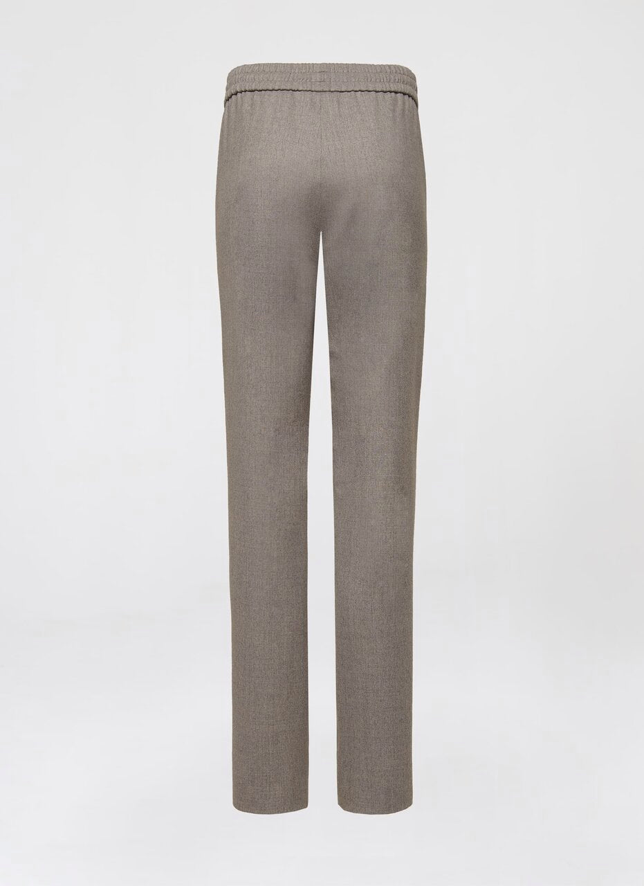 Virgin Wool Drawstring Pants - ESCADA