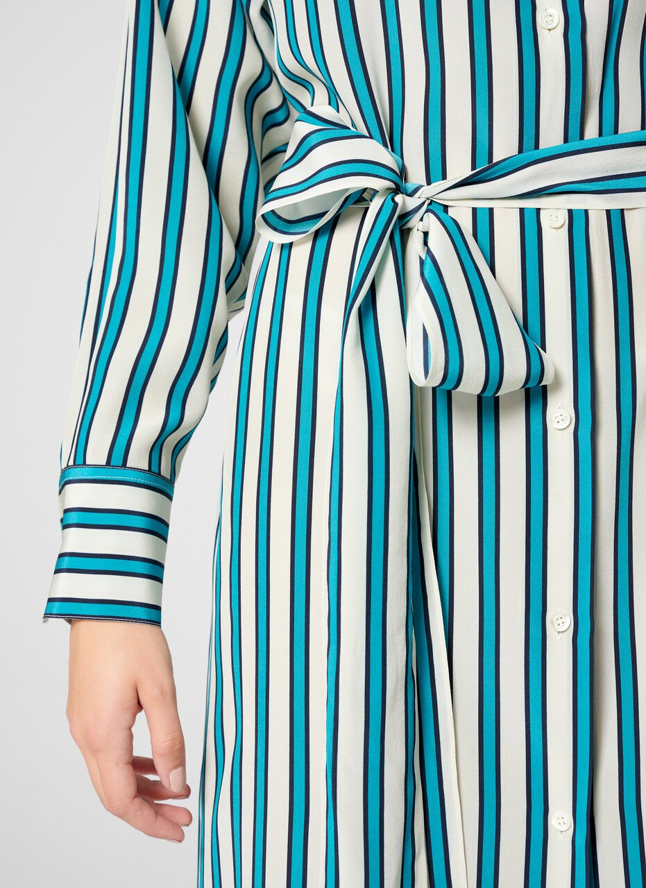 ESCADA Silk Stripe Shirt Dress