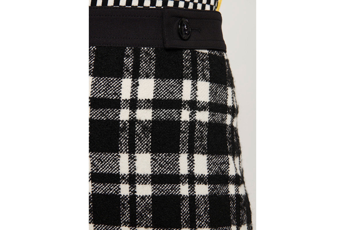Wool Check Tweed Skirt - ESCADA