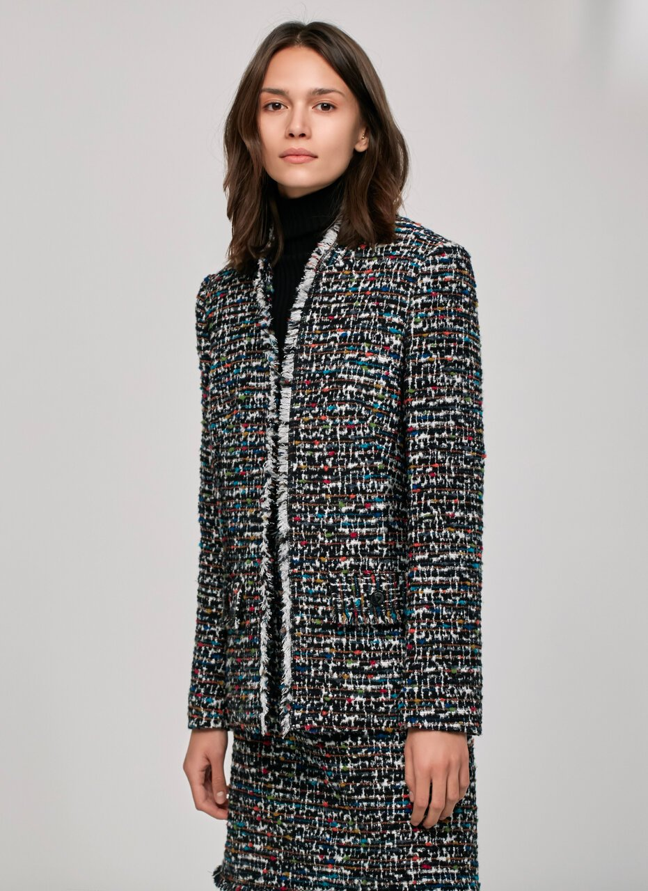 ESCADA Rich Multicolor Tweed Skirt