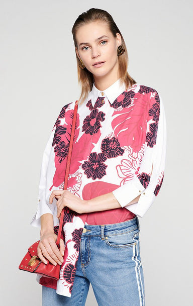 Cotton Poplin Printed Shirt - ESCADA